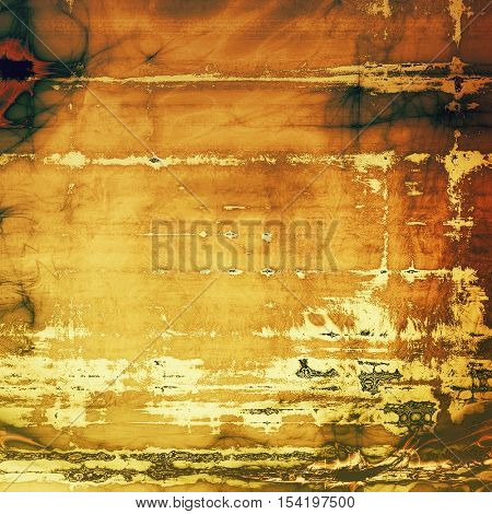 Vintage elegant background, creased grunge backdrop with aged texture and different color patterns: yellow (beige); brown; gray; green; red (orange)