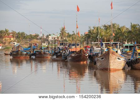 Fishing Boats Hoi An, Vietnam