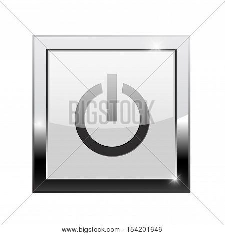 Standby button. Square web icon. Vector illustration isolated on white background