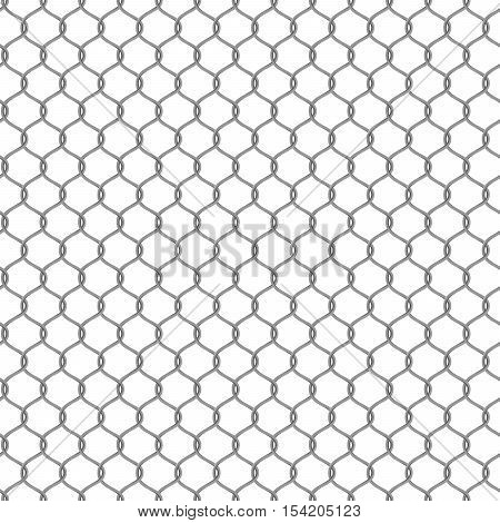 Metal chain-link fencing . Seamless Vector illustration