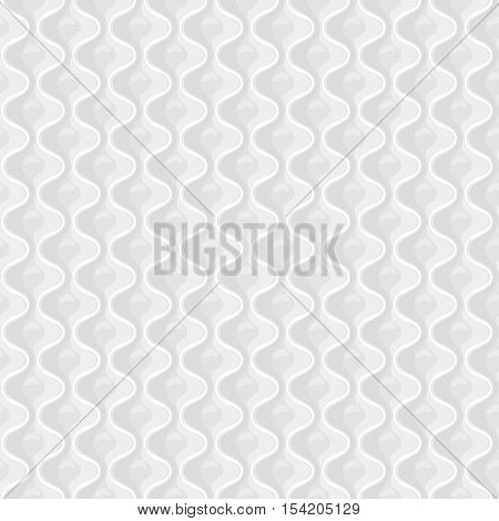 White Seamless quilted pattern . Vector illustration