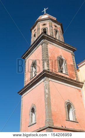 Steeple of the church of Santa Maria a Cheia Vico Equense Naples; Italy