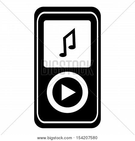 Music player icon. Simple illustration of music player vector icon for web