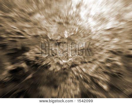 Sepia Zoom Blur