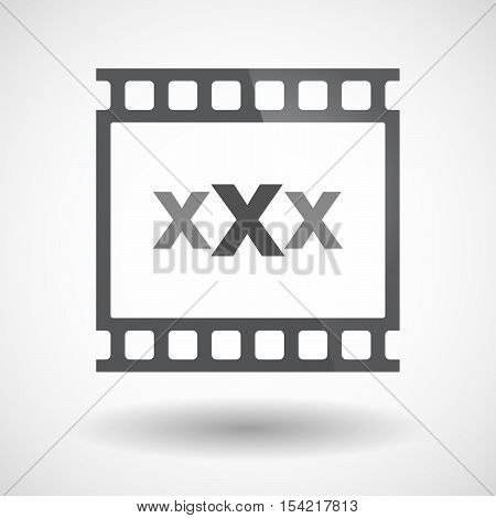 Isolated 35Mm Film Frame Slide Photogram With  A Xxx Letter Icon
