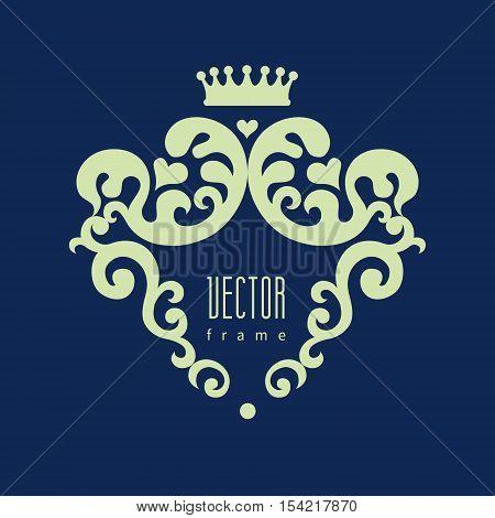 Decorative Vector Blazon For Design Template.