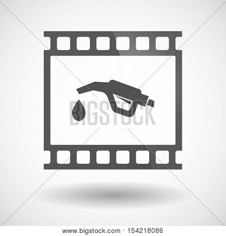 Isolated 35Mm Film Frame Slide Photogram With  A Gas Hose Icon