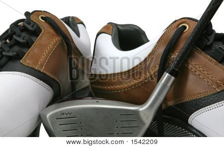 Golf Shoes And Club