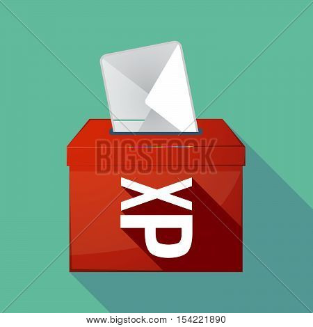 Long Shadow Ballot Box With  An Ellipsis Orthographic Sign