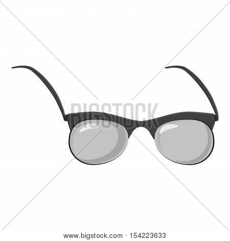 Glasses icon. Gray monochrome illustration of glasses vector icon for web