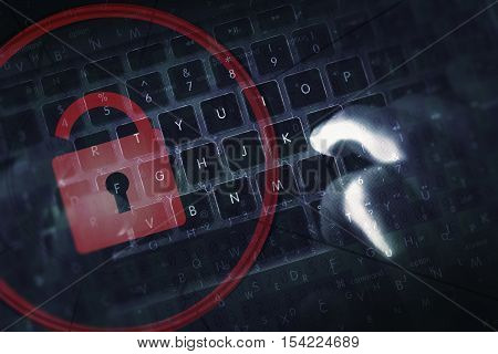 Hacker Proof Online Safety. Internet Safety Hacking Concept Photo