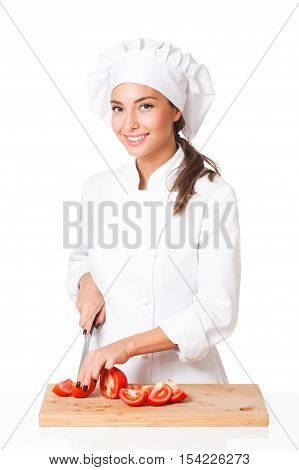 Young Chef Woman.