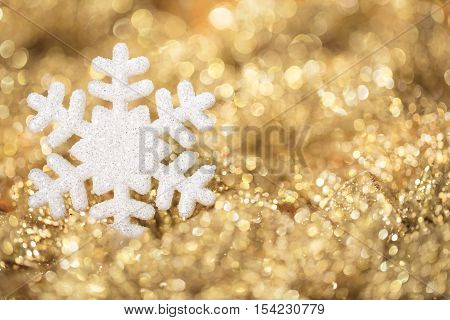 Snowflake Gold Lights Golden Christmas Snow Flake Sparkles Decoration