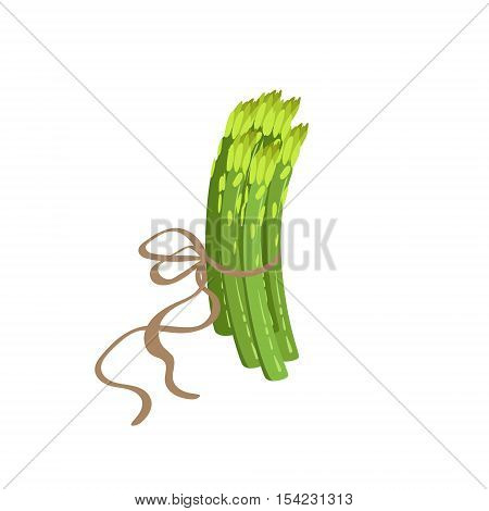 Asparagus Product Rich In Folic Acid. Simple Colorful Flat Vector Illustration On White Background.