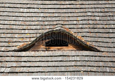 Old Thatch Roof With Small Roof Window