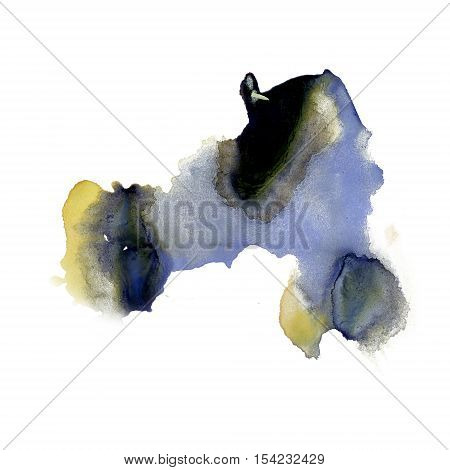 ink splatter watercolour purple black dye liquid watercolor macro spot blotch texture isolated on white