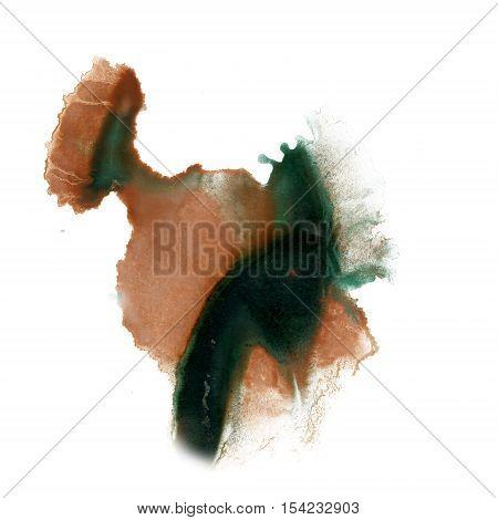 ink splatter watercolour black brown dye liquid watercolor macro spot blotch texture isolated on white
