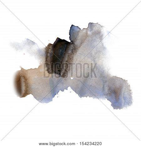 ink splatter watercolour dye liquid watercolor black blue macro spot blotch texture isolated on white