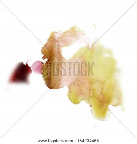 ink splatter watercolour dye liquid watercolor red green macro spot blotch texture isolated on white