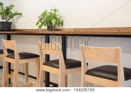 Interior of street coffee shop stock photo