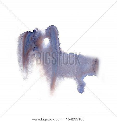 ink splatter watercolour dye liquid watercolor macro spot brown blue blotch texture isolated on white