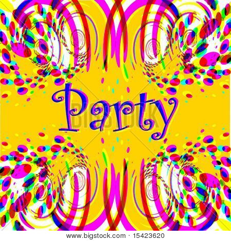 Vector Party Background Easy To Change Or Take Out Text