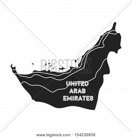 Territory of United Arab Emirates icon in black style isolated on white background. Arab Emirates symbol vector illustration.