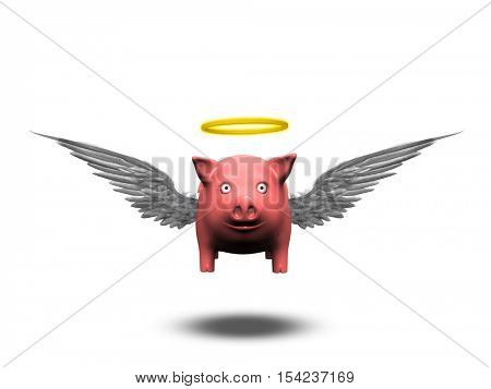 Angelic Pig   3D Render
