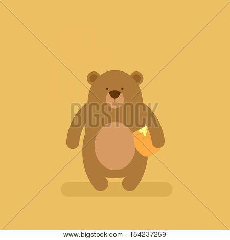 cartoon flat bear