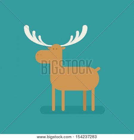 cartoon flat deer