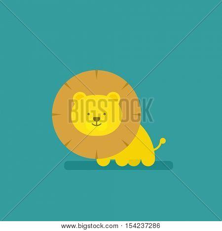 cartoon flat lion