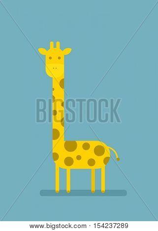 cartoon flat giraffe