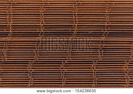 Stack Of Rusted Reinforcing Elements