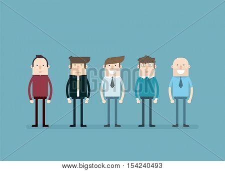 Office people. Flat cartoon charters
