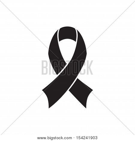 Breast Cancer Awareness black and white Ribbon. World Breast Cancer Day concept. Vector Illustration. Women healthcare concept