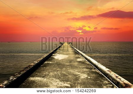 landscape of Fishing jetty, harbour Stock Photo
