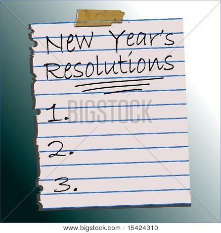 Yeni yıl kararları listesi vektör