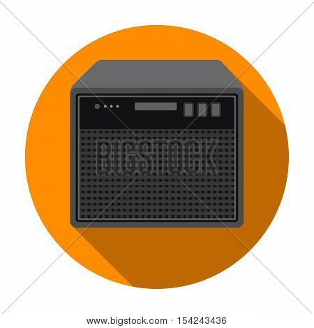 Guitar amplifier icon in flat style isolated on white background. Musical instruments symbol vector illustration
