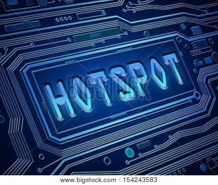 Hotspot Tech Concept.