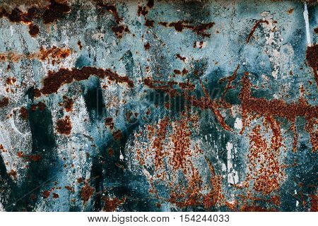 Rust texture. Colorful Rusty old scratched metal textured background