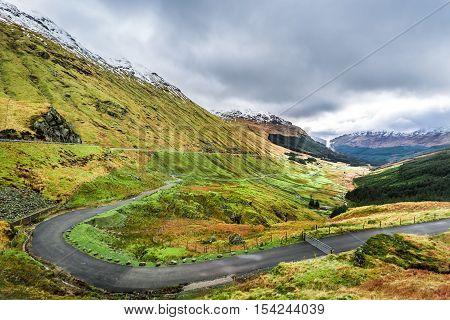 Argyll Forest Park Highland in Scotland in autumn