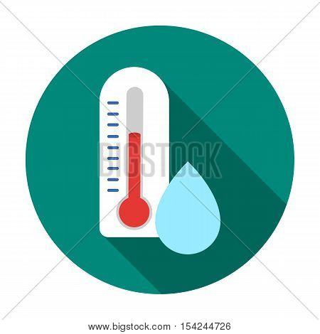 Damp day icon in flat style isolated on white background. Weather symbol vector illustration.