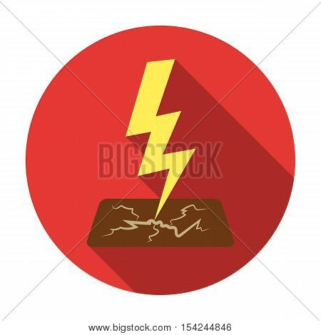 Lightning bolt icon in flat style isolated on white background. Weather symbol vector illustration.