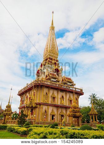 Chaithararam Temple Wat Chalong at Phuket Thailand