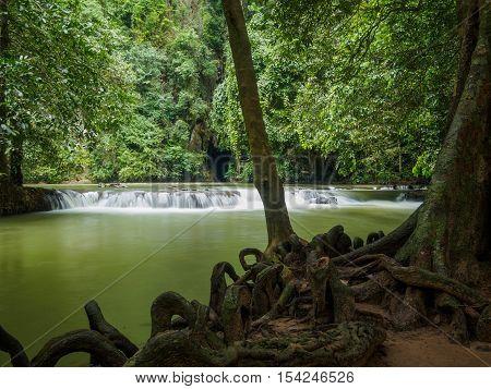 waterfall at Than Bok Khorani National Park Krabi Thailand