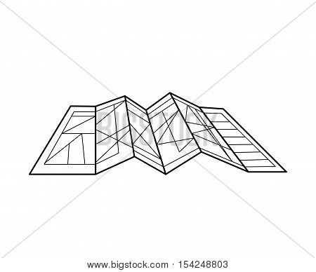 silhouete architecture plan with lines vector illustration