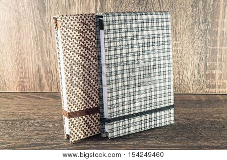 Handmade Notepad Decorated With Fabric Used For Writing Reminders Of Your Life Or Business.