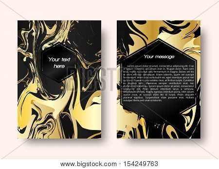 Marble graphic. Card pattern. Christmas ornament. Gold print. Vintage background. Abstract art. Banner wallpaper. Hipster backdrop. Futuristic design. Watercolor illustration. Vector illustration.