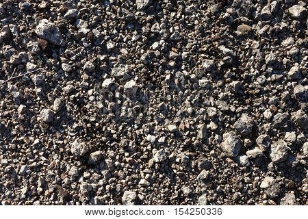 Gravel texture background from mountain scree ground