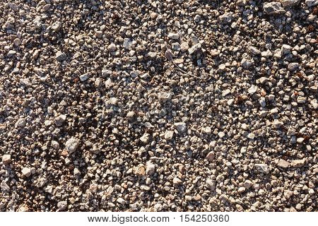Gravel texture background from mountain scree in arctic